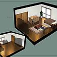 室内パース図1彩色完成